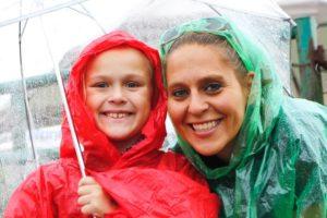 Domonique and her mom, Heidi Yatsko, are ready to rodeo, rain or shine!