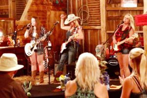 Honky Tonk Angels play in the Barn after the event.