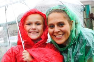 Domonique and her mom, Heidi Yatsko, are ready to rodeo, rain or shine!